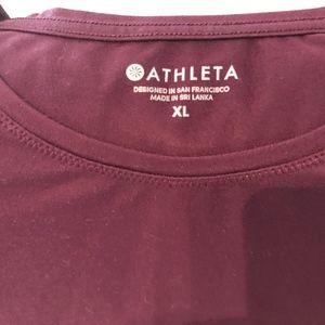 Athleta Travel burgundy T-shirt XL